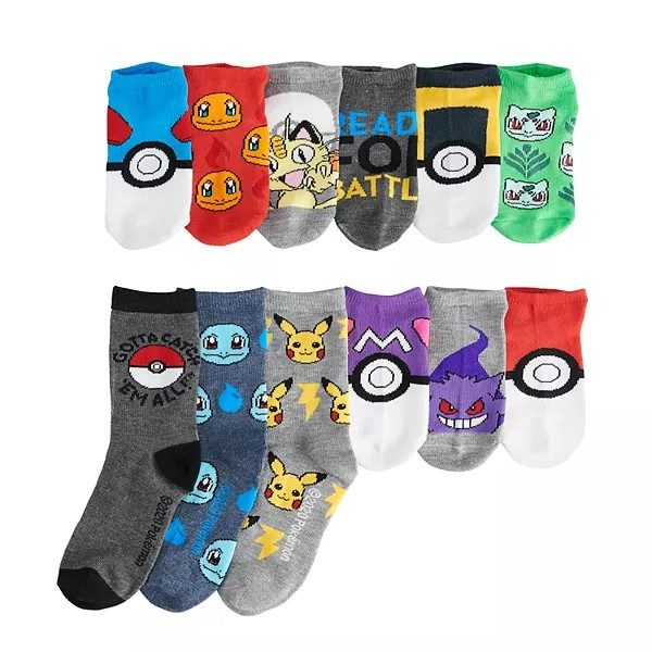 Boys 4-8 Pokemon 12 Days of Socks Advent Calendar Box