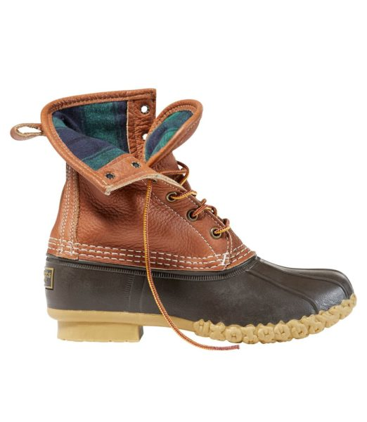 """Women's 8"""" Bean Boots, Tumbled-Leather Chamois-Lined"""
