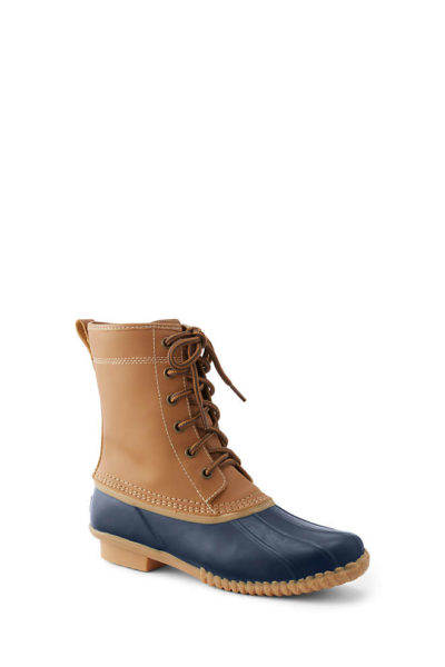 Lands' End Women's Insulated Flannel Lined Duck Boots