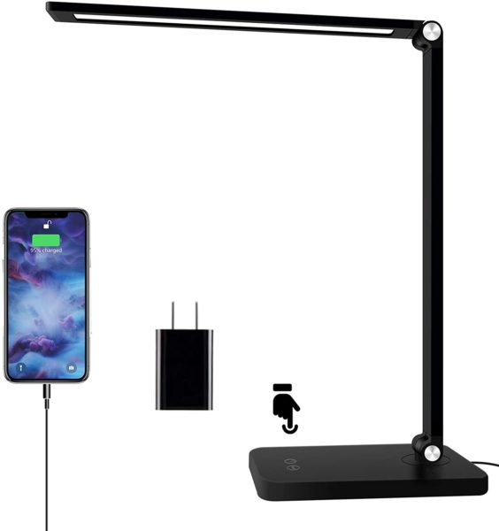LED Desk Lamp with USB Charging Port