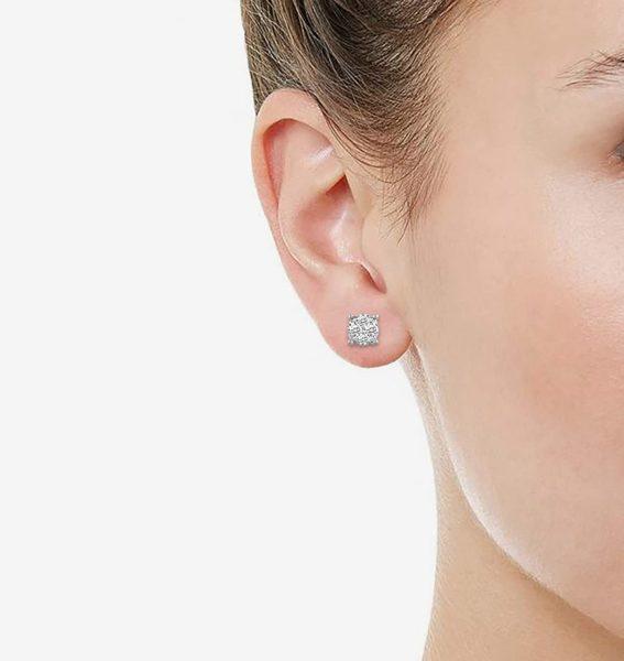 1/4Ct Women Round Diamond Stud Earrings Set