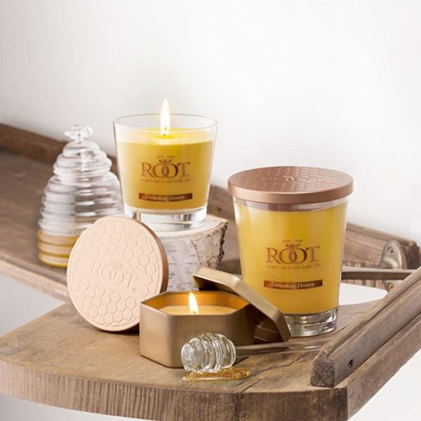 Root Candles Honeycomb Veriglass Scented Beeswax Blend