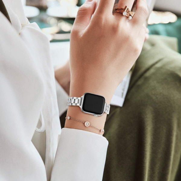 Stainless Steel Metal Wristband Women