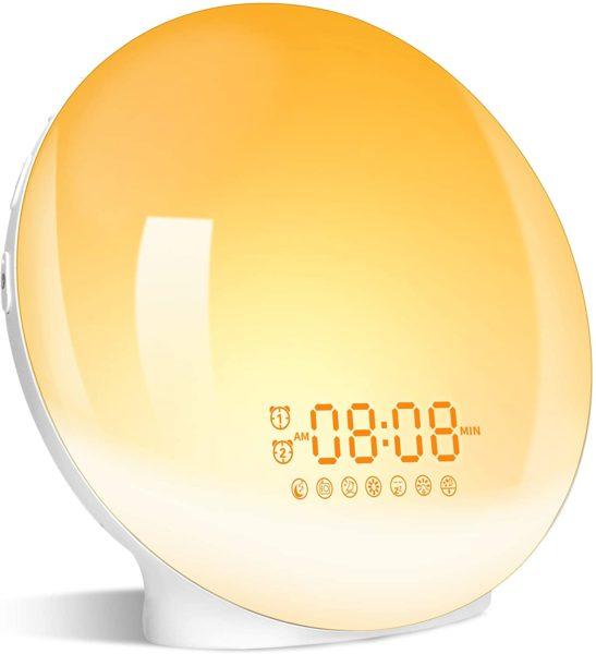 Wake- Up Light, LBell 7 Colored Night Light/Sunrise Simulation & Sleep Aid