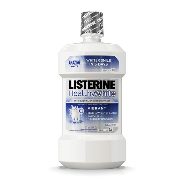 Listerine Healthy White Vibrant Multi-Action Fluoride Mouthwash