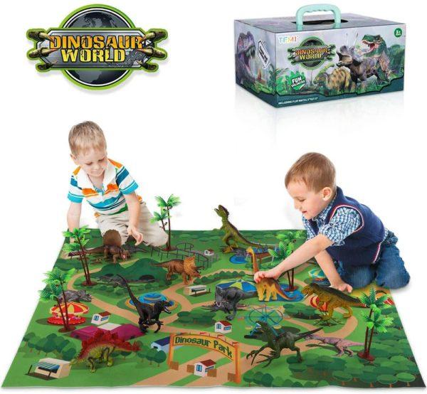 Dinosaur Toy Figure w/ Activity Play Mat
