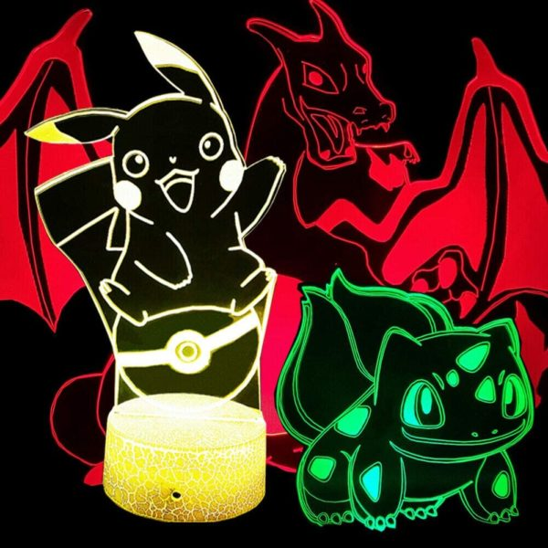 Pikachu Night Light 3 Patterns
