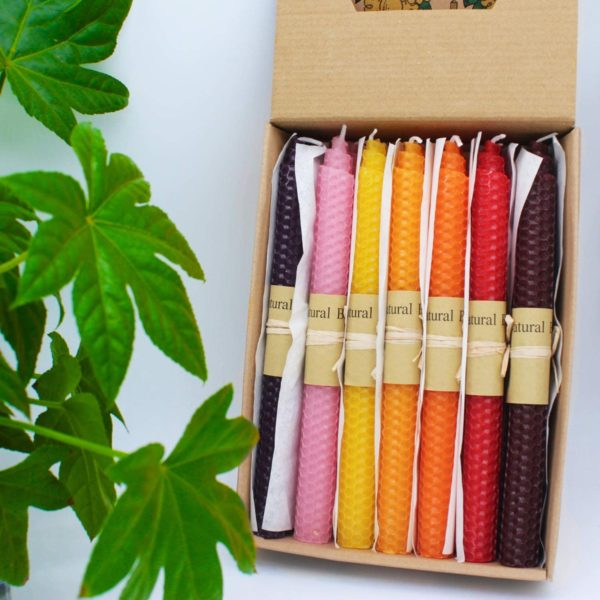 7 Pair 100% Pure Beeswax Handmade Taper Candles