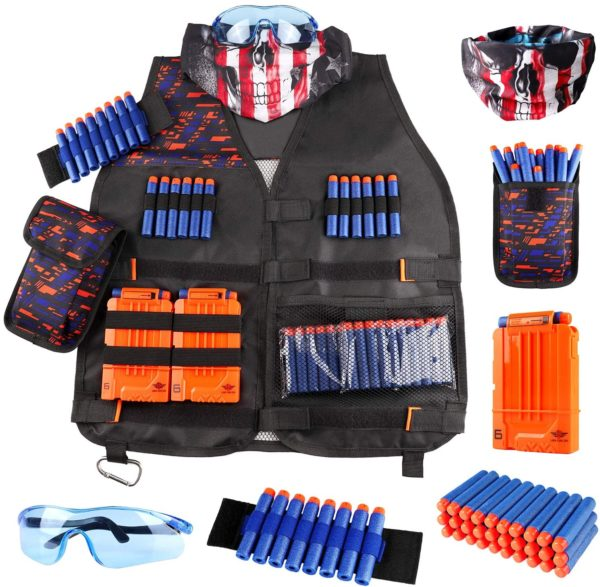 Kids Tactical Vest Kit for Nerf Guns