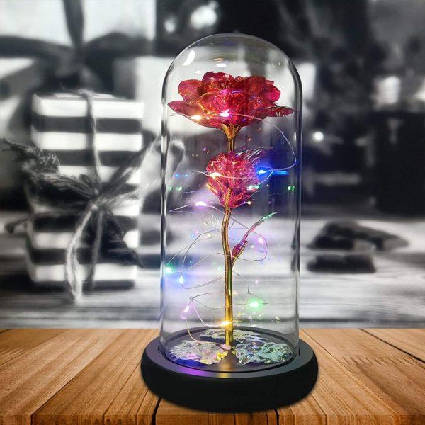 Galaxy Flower Rose Gift for Girlfriend