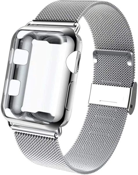 GBPOOT Compatible With Apple Watch Band, With Protective Case