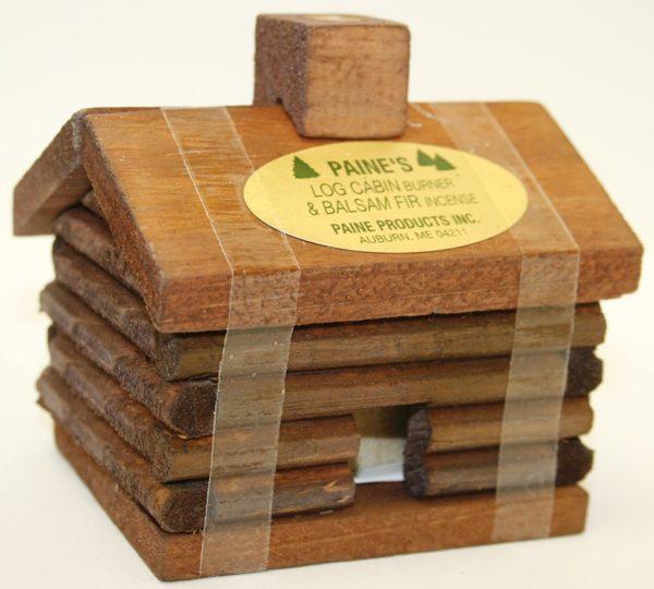 Small LOG Cabin Incense Burner