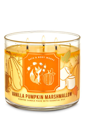 Bath & Body Works Vanilla Pumpkin Marshmallow 3-Wick