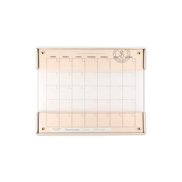 Glass Dry Erase Calendar - Sugar Paper
