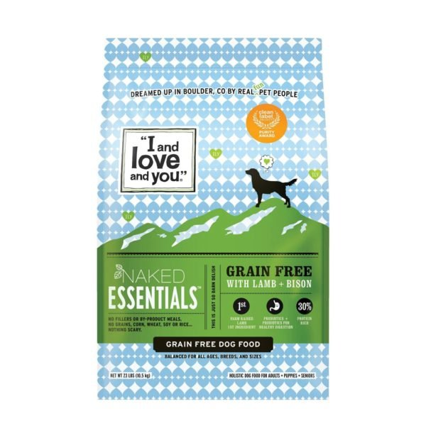 4 lb I and Love and You Naked Essentials Grain Free With Lamb & Bison Holistic Dry Dog Food