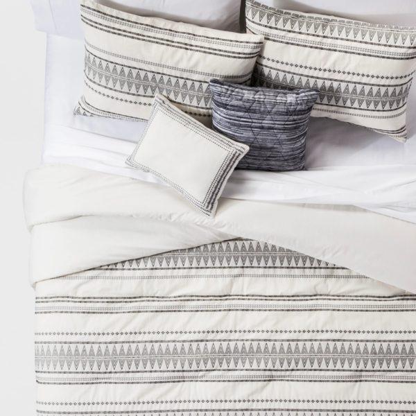 Cream Tatiana Global Woven Stripe Cotton Comforter Set