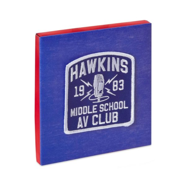 Stranger Things Hawkins AV Gift Card Holder Greeting Card with Patch