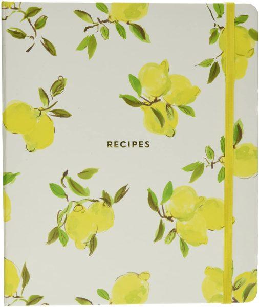 Kate Spade New York Lemon Recipe Book, Bright Yellow
