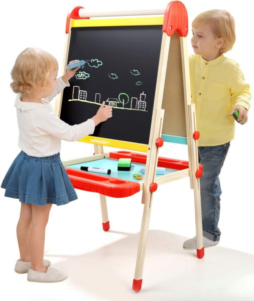 Top Bright Wooden Art Easel for Kids