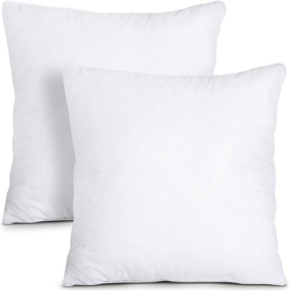 Utopia Bedding Throw Pillows Insert (Pack of 2, White)