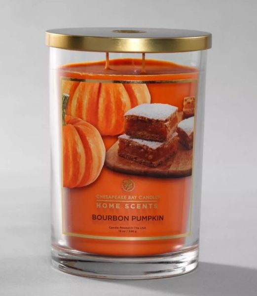 Home Scents By Chesapeake Bay 2-Wick Bourbon Pumpkin Candle