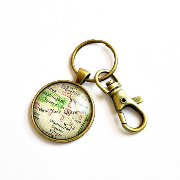 Personalized Map Keychain