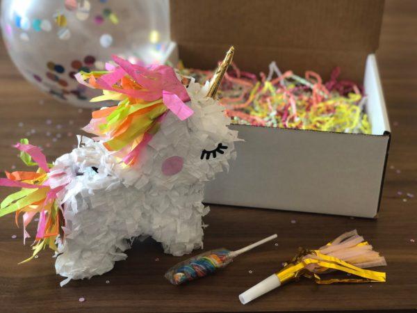 Unicorn Mini Piñata Party in a Box