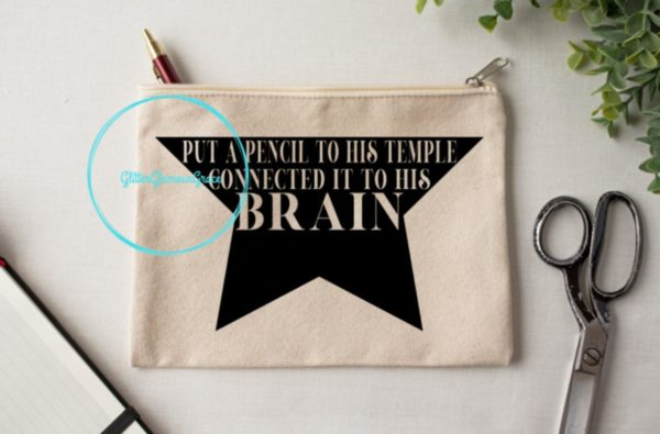 Broadway-Inspired Pencil Pouch
