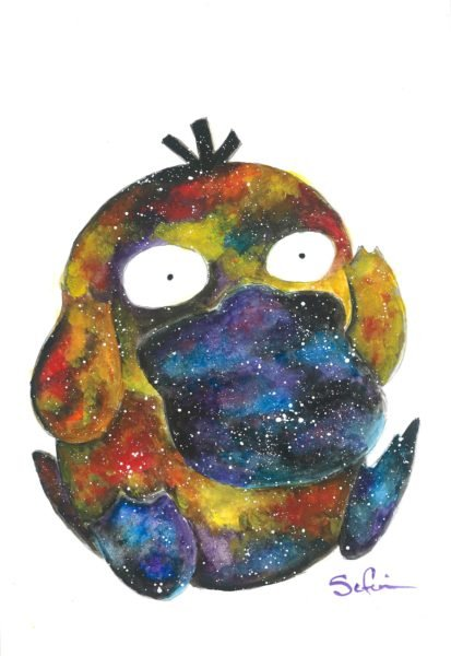 Pokemon - Psyduck Watercolor Art Print