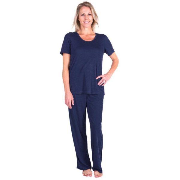 Women's Moisture Wicking Scoop Neck Pajama Set