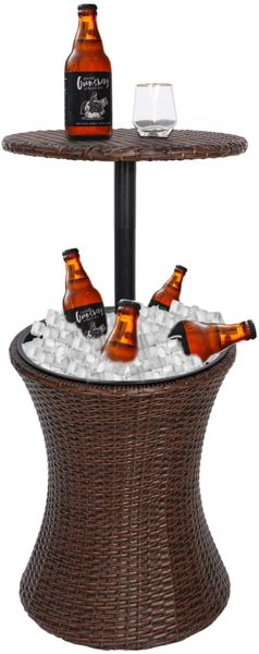 Rattan Style Outdoor Patio Table Designed Cooler