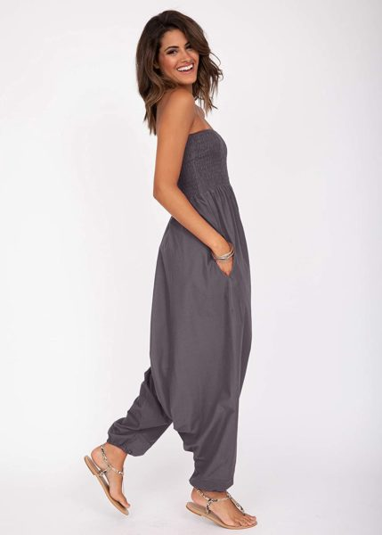 likemary 2 in 1 Cotton Maxi Harem Trouser and Bandeau Jumpsuit