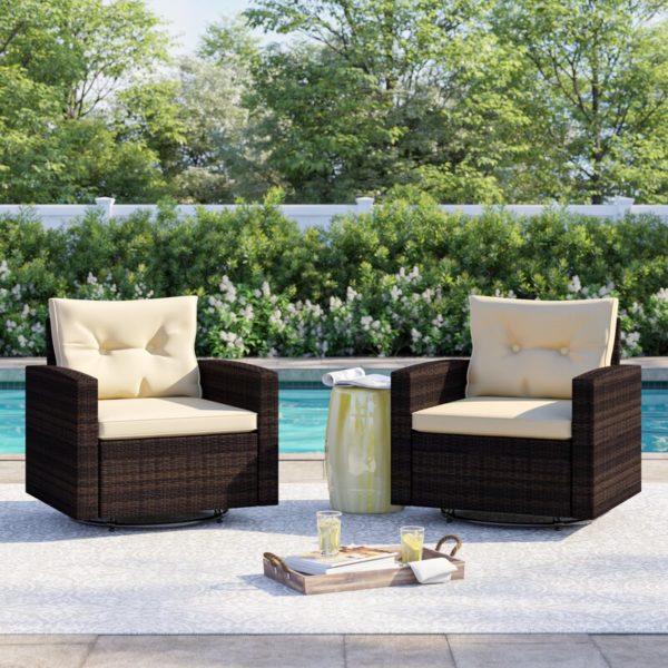 Arlington Swivel Patio Chair with Cushions