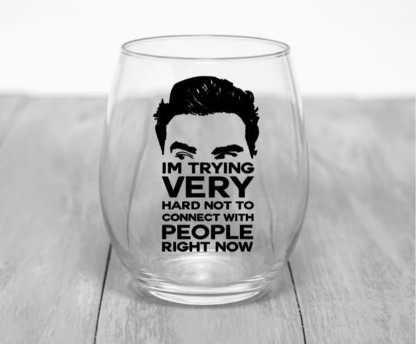 David Rose Quote Wine Glass