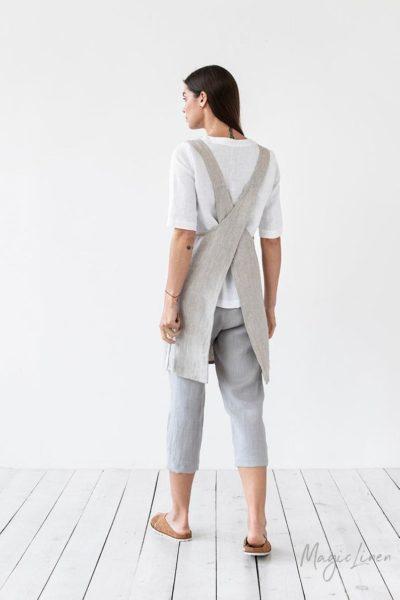 Pinafore linen apron