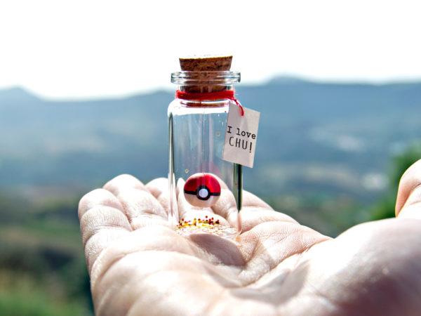 Pokemon Go Pokeball Message in a Bottle