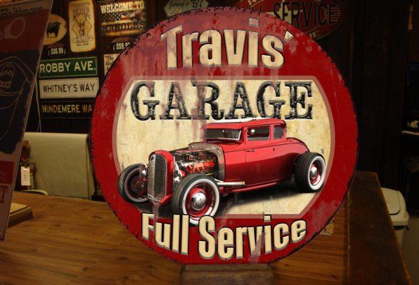 Vintage Custom Car Sign for Garage