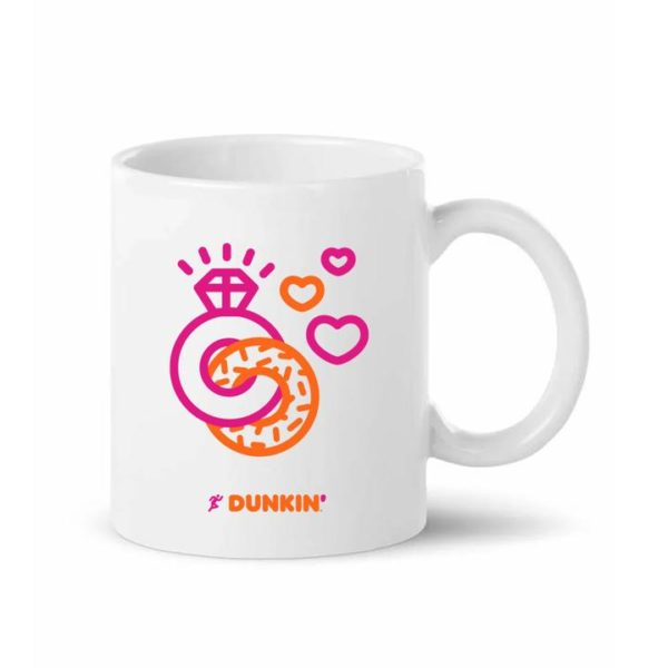 Newlyweds Run on Dunkin' Customizable Mug