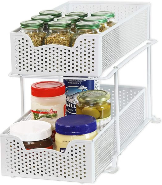 2-Tier Sliding Cabinet Basket