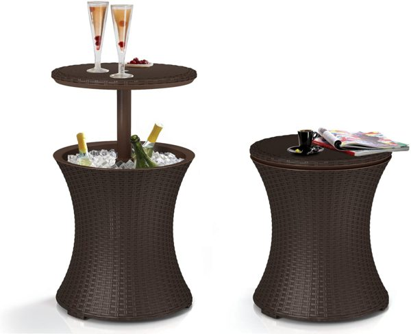 Keter Pacific Cool Bar Outdoor Patio Table