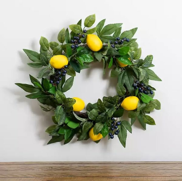 Lemon and Berry Wreath