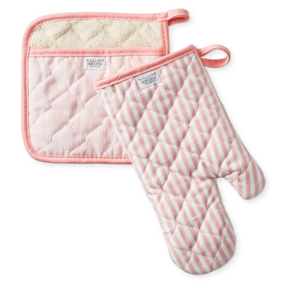 Bay Stripe Oven Mitt + Potholder Set