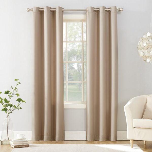 Latitude Run Adrieanna Casual Solid Semi-Sheer Grommet Single Curtain Panel