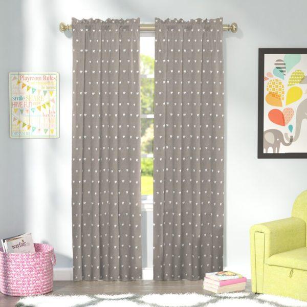 Indigo Safari Adrienne Animal Print Blackout Thermal Rod Pocket Single Curtain Panel