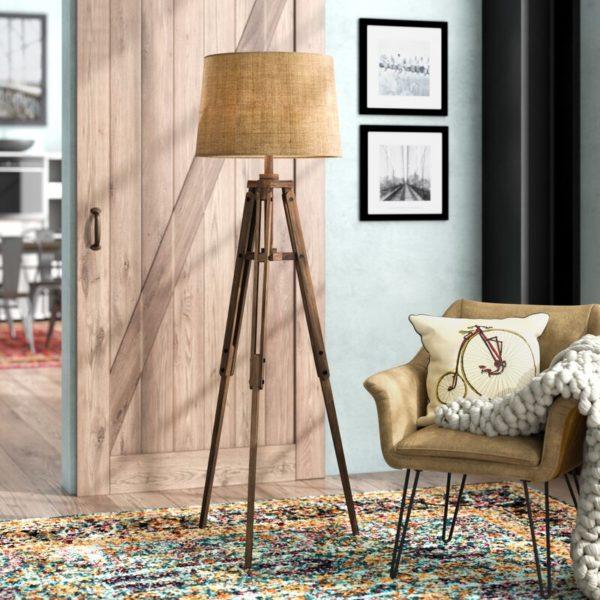 """Trent Austin Design Ailis 62"""" Tripod Floor Lamp"""