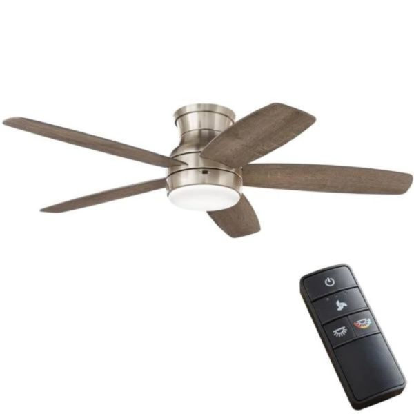 Home Decorators Collection Ashby Park 52 in. Brushed Nickel Ceiling Fan