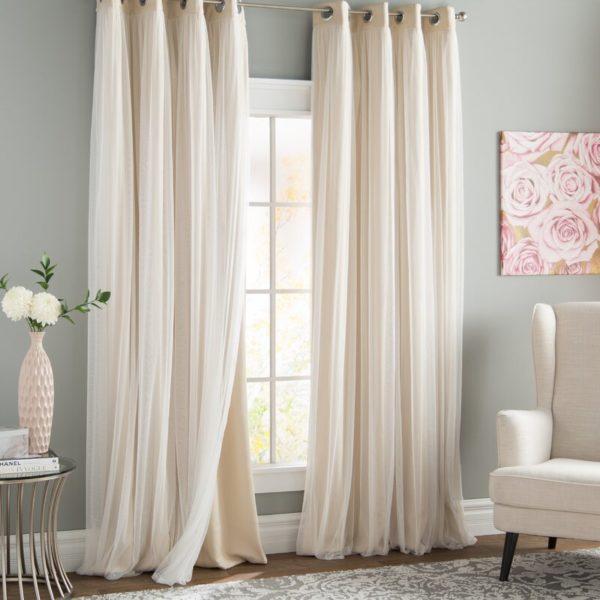 Rosdorf Park Brockham Solid Blackout Grommet Curtain Panels (Set of 2)