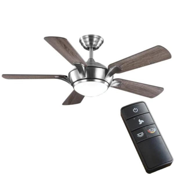 Home Decorators Collection Chelton 46-inch Brushed Nickel Ceiling Fan