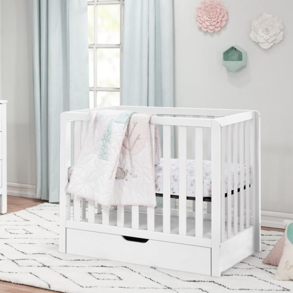 Colby 4-in-1 Mini Convertible Crib with Storage