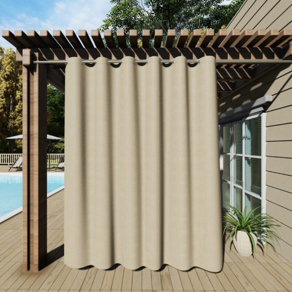 Latitude Run Dencie Solid Room Darkening Thermal Outdoor Grommet Single Curtain Panel